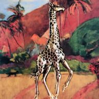Marque-page Girafe