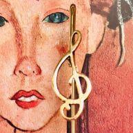 Bookmark Treble clef